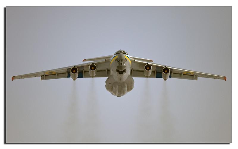 112. Iluyshin II-76 taking off at TAB.