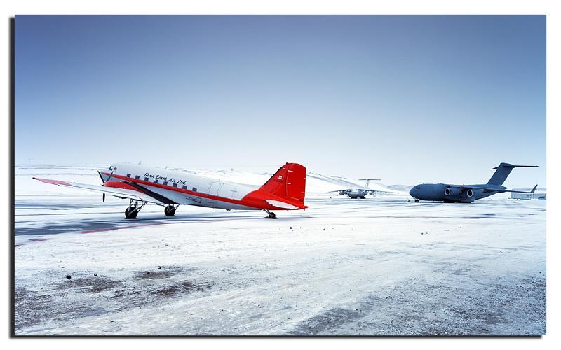 116. Three generations at Thule Air Base: DC3 (first flight 1935), Ilyushin II-76 (first flight 1971) & C-17 Globemaster (first flight 1991).