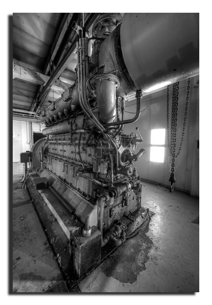 218. Abandoned radio facillity on Northmountain; former diesel-driven generator. My first B&W.