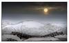 556. Moon rising over Army bridge & Ice sheet.........