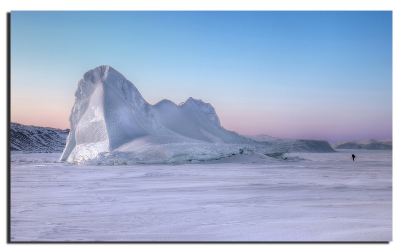 1. A beautiful Iceberg at the entrance to Wolstenholme Fjord. Captured just after sunset, around midnight Spring 2009.