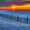 Rising Sun In Winter