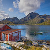 Red Huts And Rowboat, Lofoten Norway