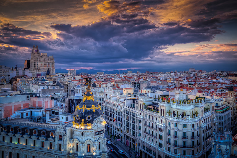 Storm Clouds Over Madrid Spain
