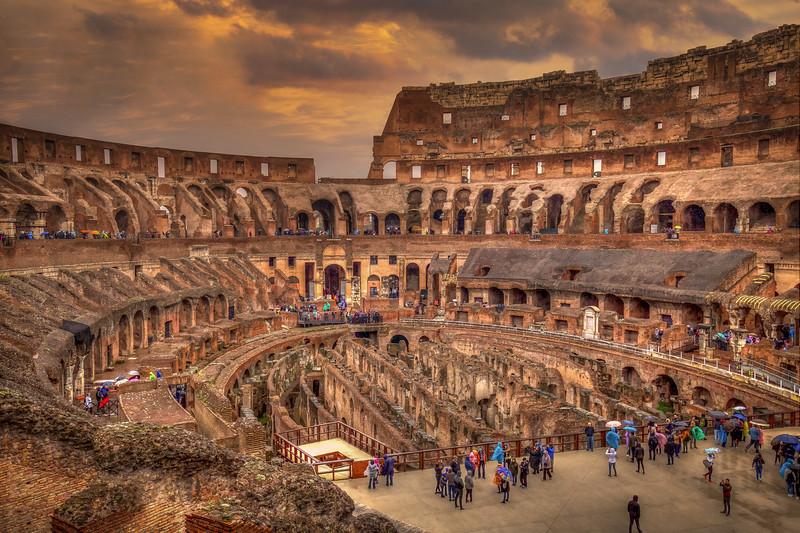 Dusk Over Roman Colosseum