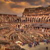 Dusk Over Roman Colosseum
