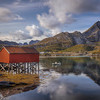 Stilt House Over Lake, Lofoten Norway