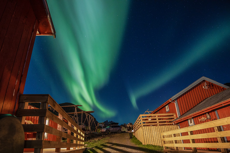 Northern Lights At Hotel, Lofoten Norway