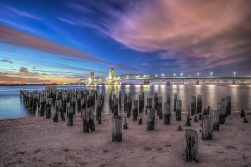 Marine Parkway Bridge With Pillars