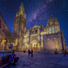 Santa Iglesia Cathedral  At Night, Toledo Spain