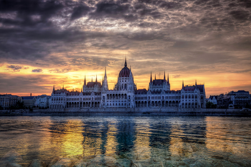 Ominous Clouds Over Capitol Building, Budapest