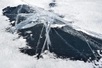Ice Fissures, Lake Ontario at Kingston