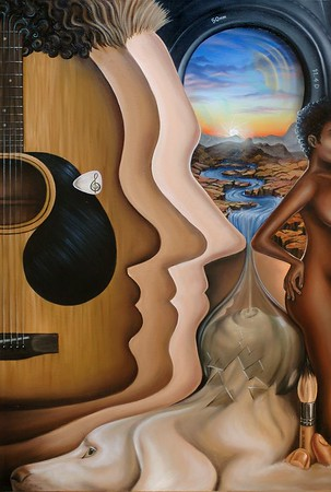 """Title: All Things Important, Oil on Canvas 2005, 24""""x36"""""""
