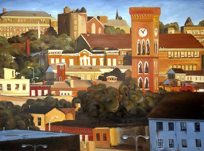 "Title: ""Old Town"" Oil on Canvas, 30""x40"", 2004"