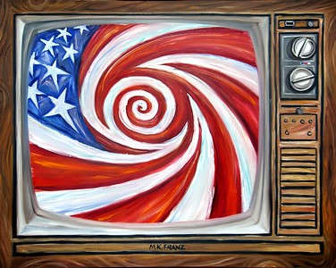 "Title: ""Remote Control"" Oil on Canvas 4'x5' 2005"