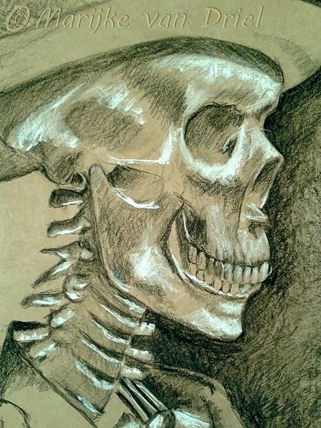 Skelet met kleding - Schedel