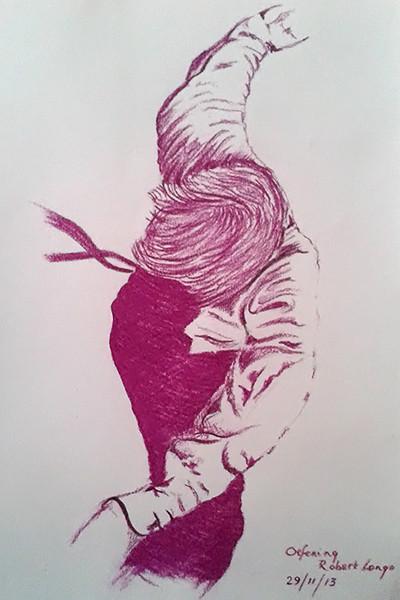 Robert Longo - Man met hemd,das (oef 2)