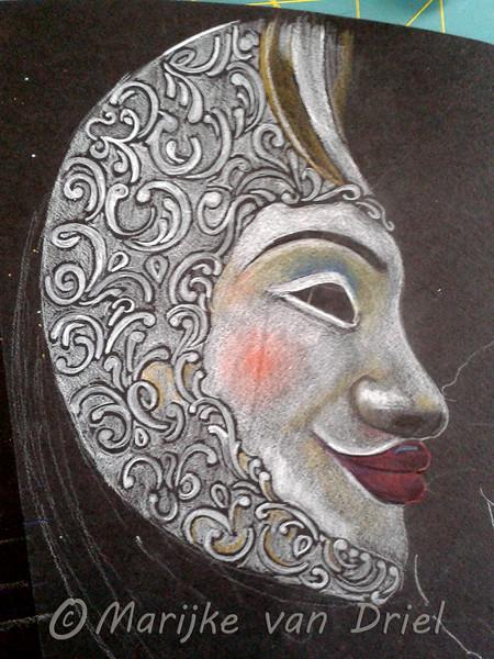 3de Kwart: Carnaval Venetië (masker Zon-Maan)