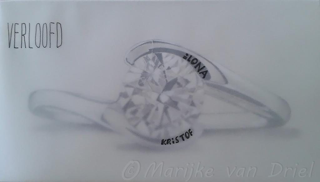 Verlovingskaartje voor onze dochter Ilona & Kristof