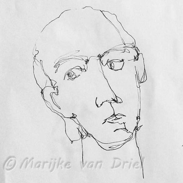 Snel schetsen in 1 lijn naar model (Mark)