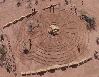 Labyrinth at Wild West Festival, 2013, Tuscon, AZ.