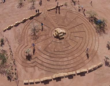 Labyrinth at Wild West Festival, 2013, Tuscon, AZ.
