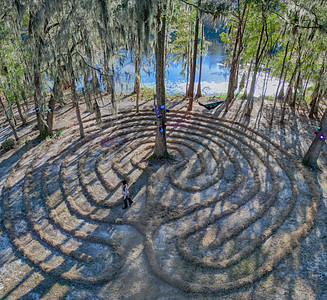 Labyrinth at Hulaween Festival, 2013, Suwanee, FL.