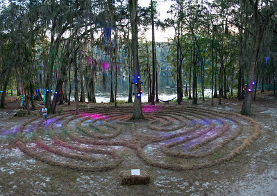 Labyrinth at Hulaween Festival, view #2, 2013, Suwanee, FL.