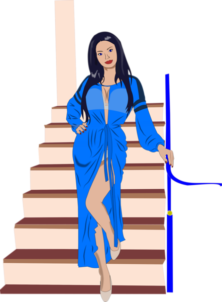 Marina on the Stairs