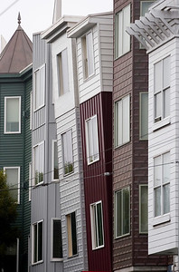 leaning buildings of Haight