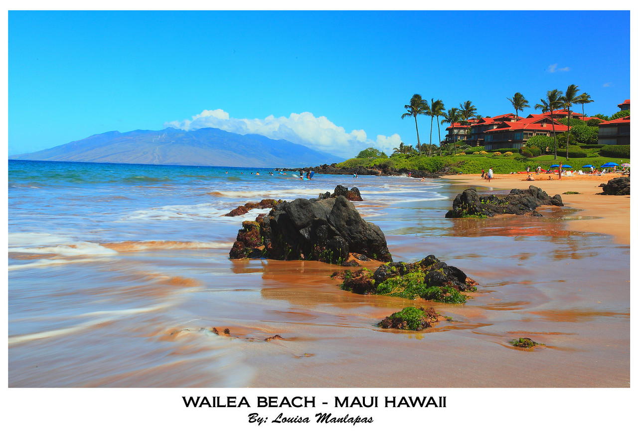 Wailea Beach, Polo Beach, Seascape, Lanai, Maui Hawaii