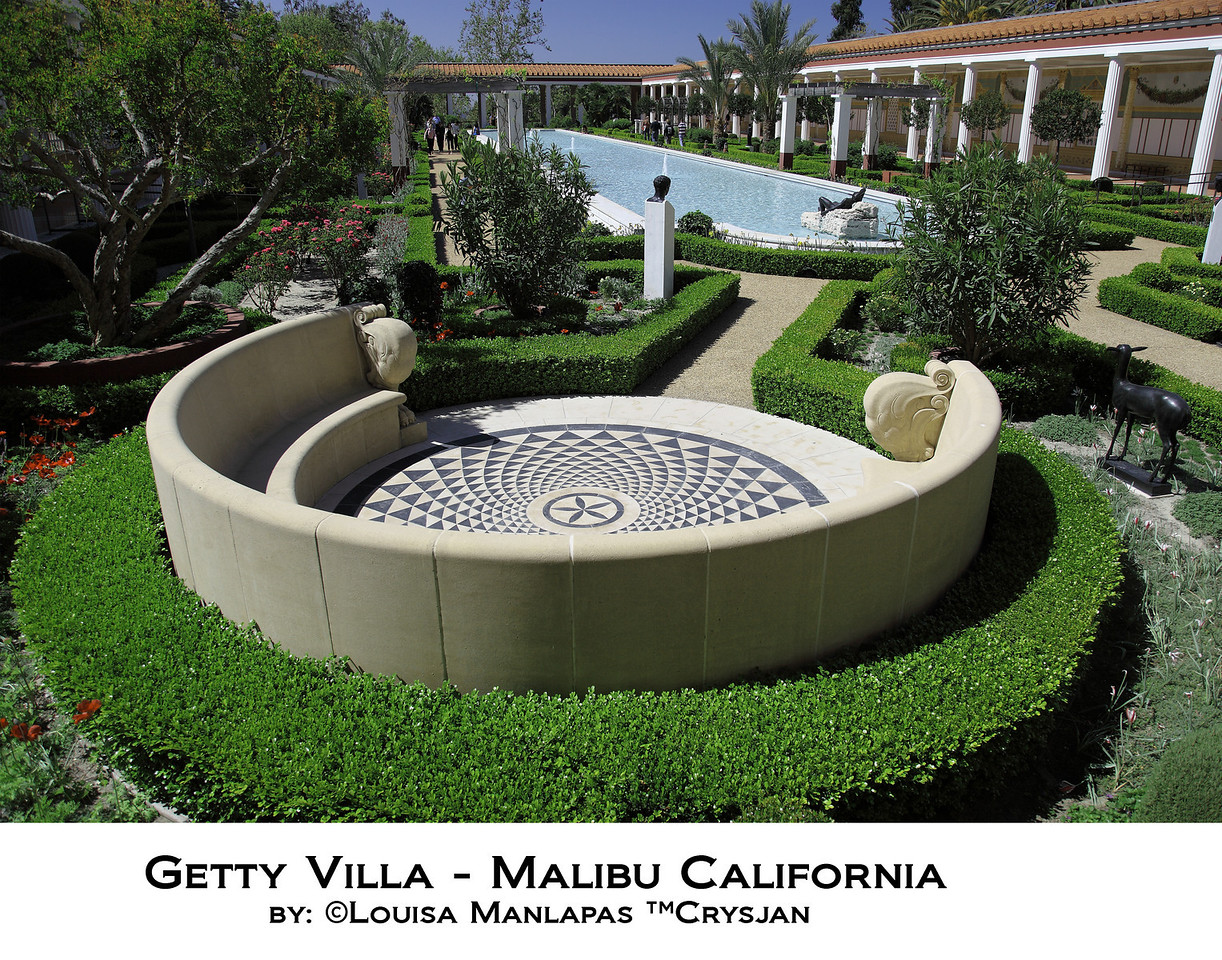 Getty Villa, Malibu, Pacific Palisades, Garden