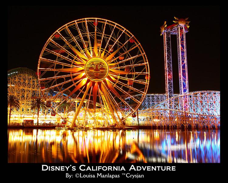 California Adventure, long exposure, night shot