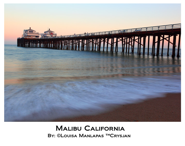Malibu Pier, Before Sunset, Seascape, Malibu California