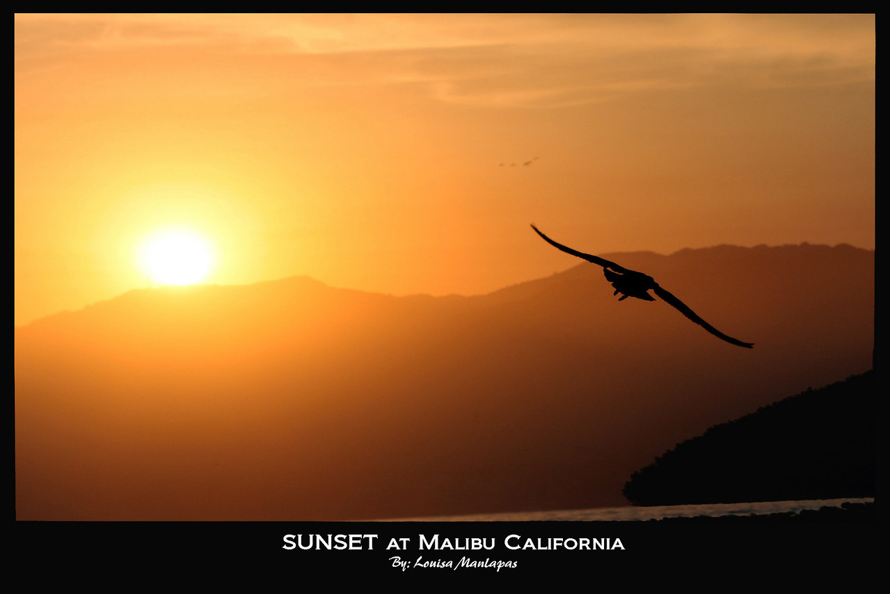 A different angle of Sunset in Malibu California