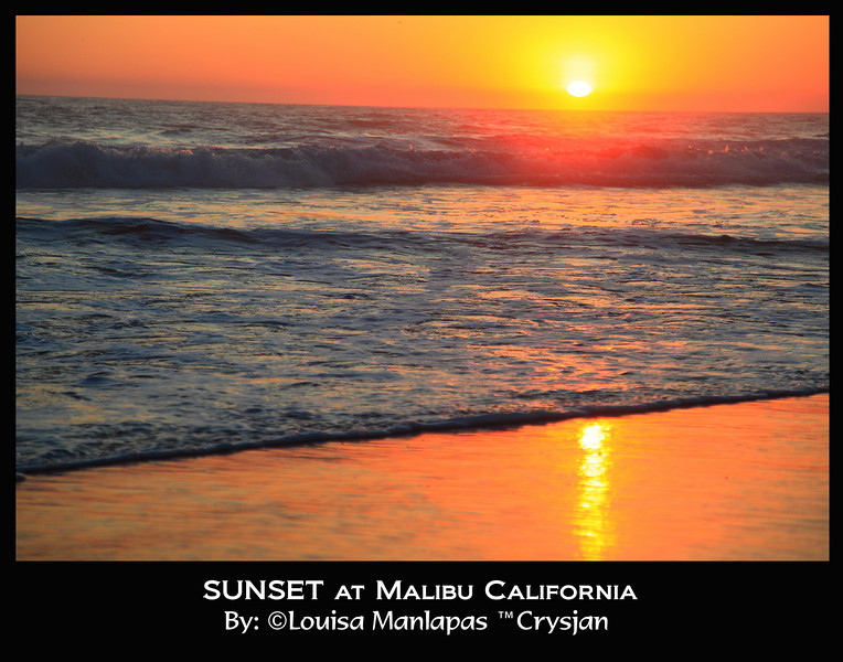 Sunset at Zuma Beach, Malibu California.