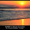 Sunset at Zuma Beach, Malibu California.