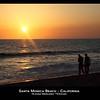 Santa Monica Beach, Santa Monica California, Sunset, Beach, Seascape