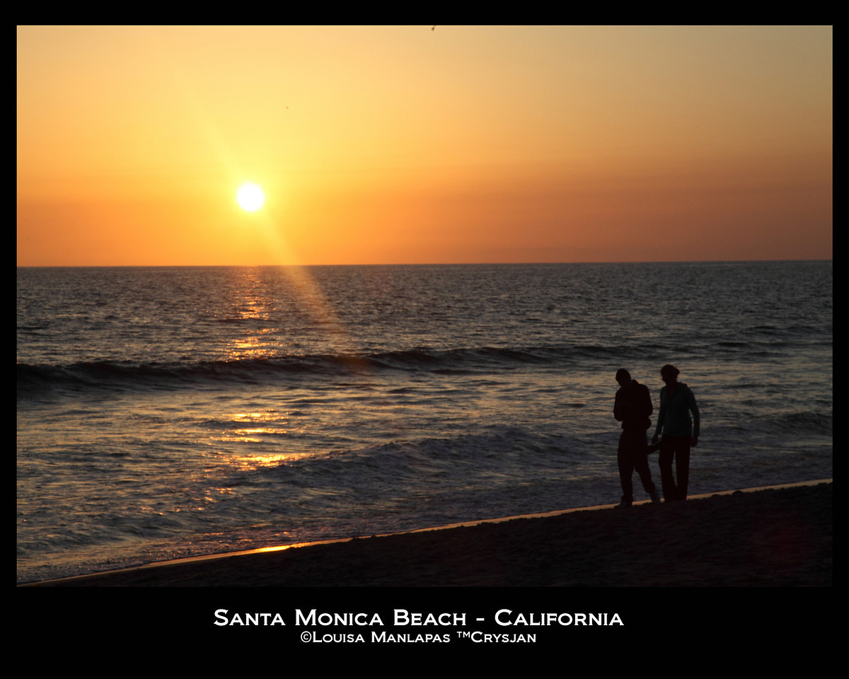 Santa Monica Beach, Santa Monica California, Sunset, Beach, Seascape