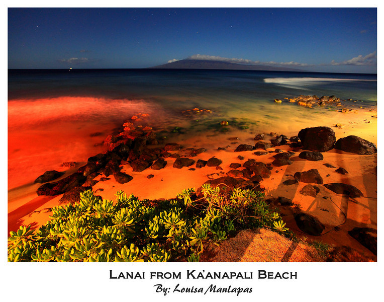 Ka'anapali Beach, Lanai, Long Exposure, Night Shot