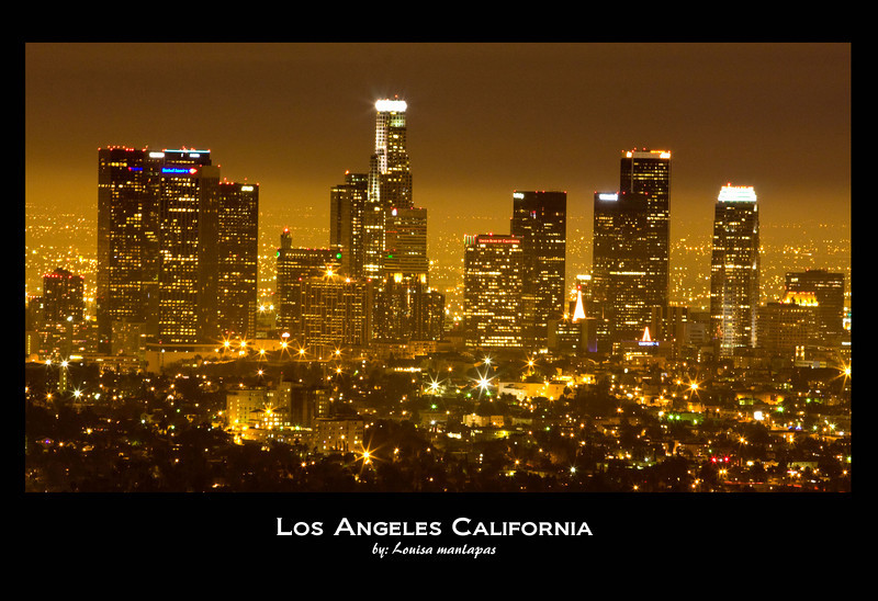 Los Angeles at Night, Los Angeles Downtown, Night Shot, Long Exposure