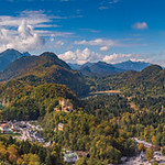 The Hohenschwangau Castle and the Town of Hohenschwangau in the Bavarian Alps (2017)