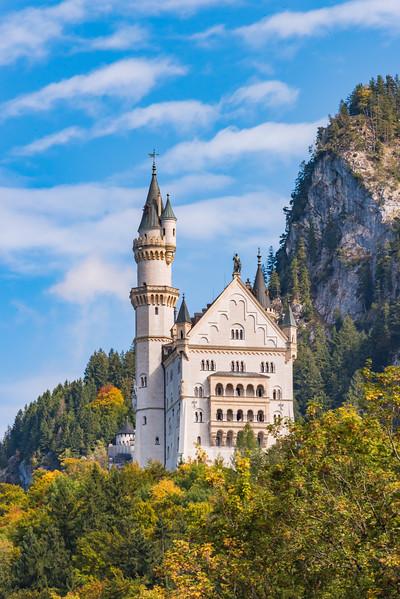 The Neuschwanstein Castle in the Bavarian Alps (2017)