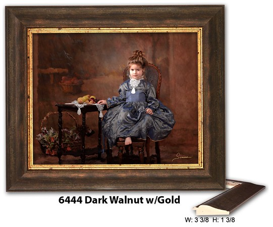 6444 Dark Walnut w Gold - Amberwood