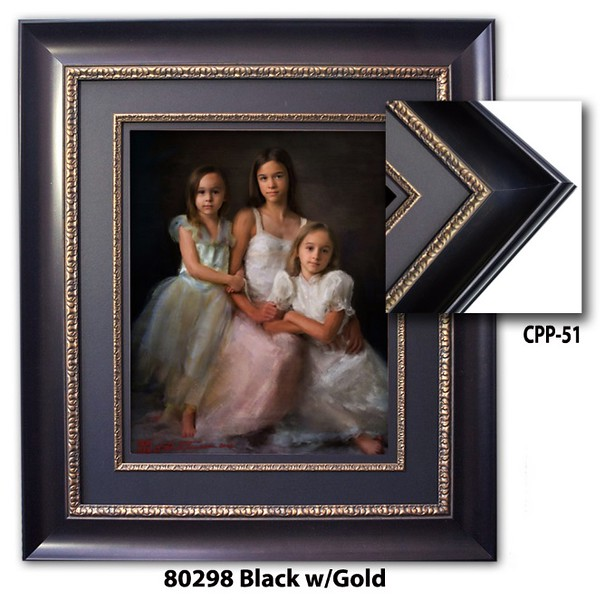 80298 Black w Gold