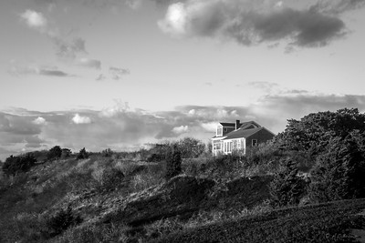 The House on the Bluff BW