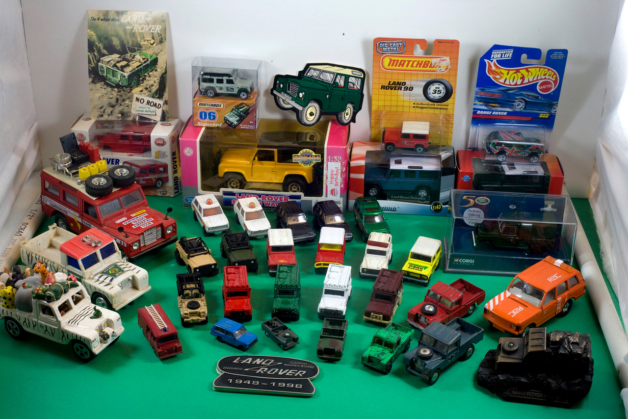 My collection of Land Rover toy models - I've had some of these since the 1960's