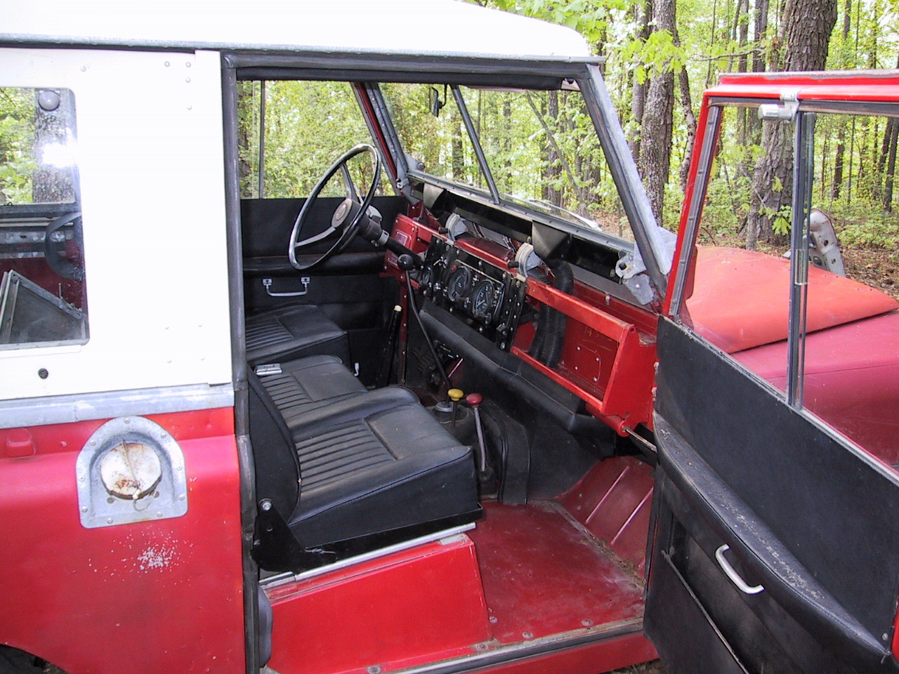 This is what a completely stock unmolested 1971 interior looked like - it was as nice an original interior as I've ever seen in a Series truck.