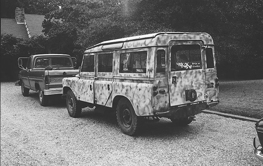 """1966 109 diesel - note the """"Keep on Truckin"""" sticker"""