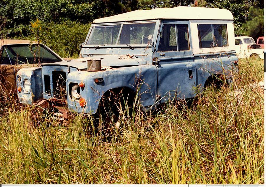 1971 Series IIA - looks like a bag of walnuts but it did eventually run again (two owners later)